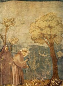Giotto_-_Legend_of_St_Francis_-_-15-_-_Sermon_to_the_Birds